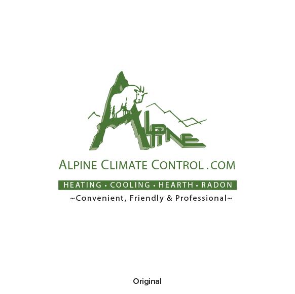 Image of Alpine Climate control old logo design