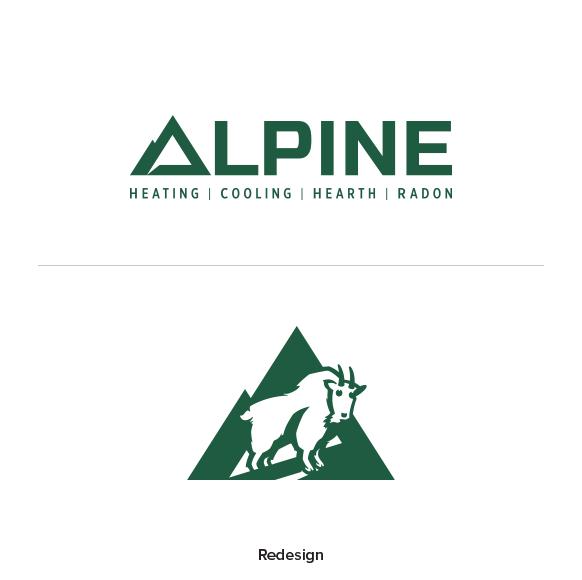 Image of Alpine Climate control Ozzmata logo and brand identity design