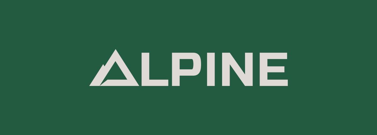 Image of Alpine Climate control Ozzmata branding, logo wordmark and brand identity design