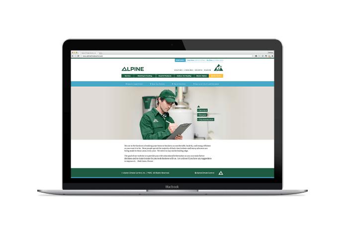 Image of Alpine Climate control Ozzmata branding, brand identity and web design