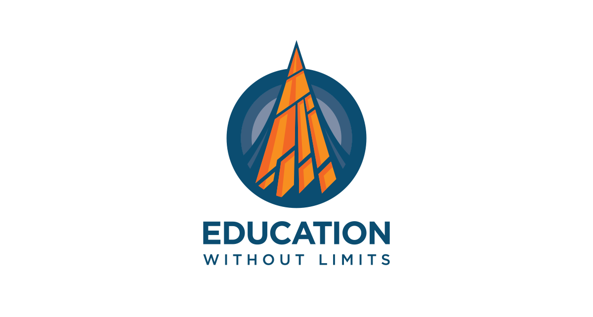 Image of Education Without Limits logo with branding and brand identity design by Ozzmata