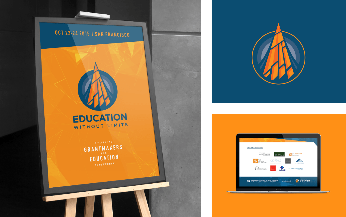 Image of Education Without Limits marketing with branding and brand identity design by Ozzmata