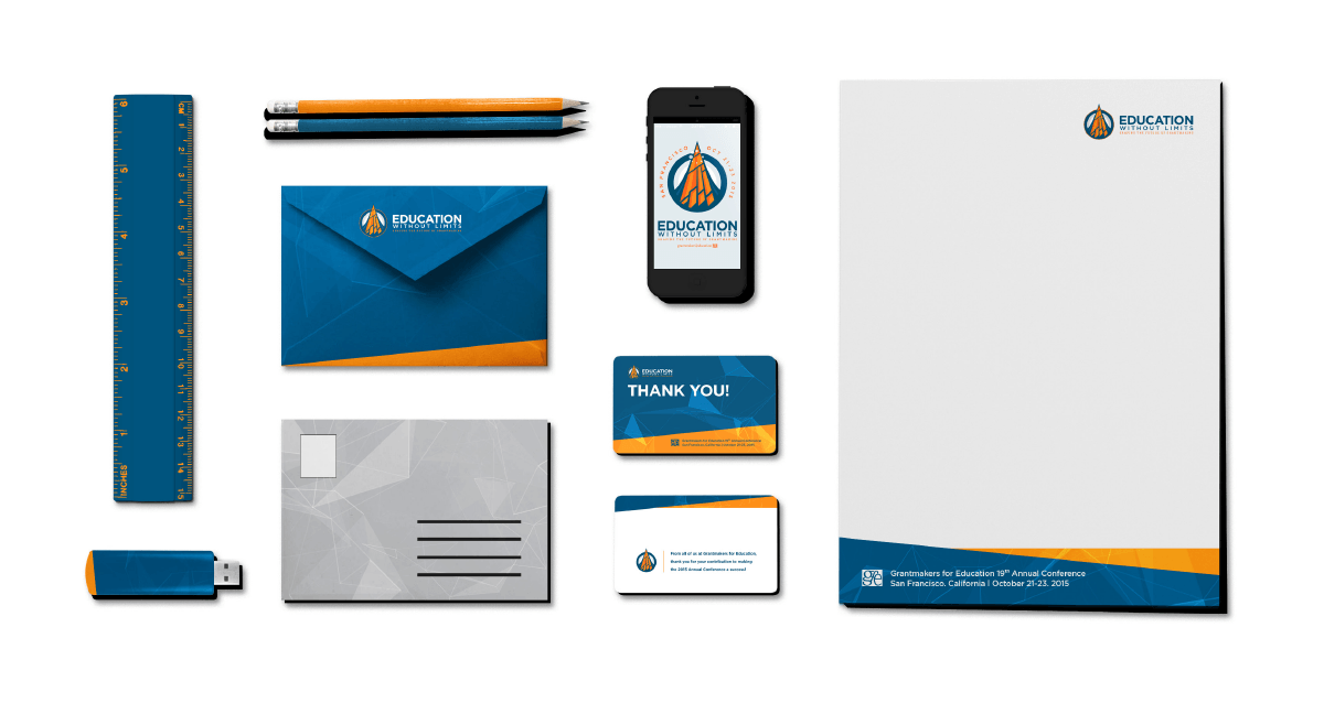 Image of Education Without Limits branding and brand identity design by Ozzmata