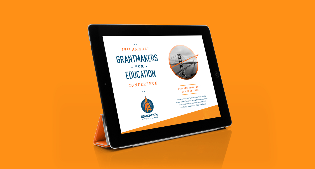 Image of Education Without Limits website with branding and brand identity design by Ozzmata