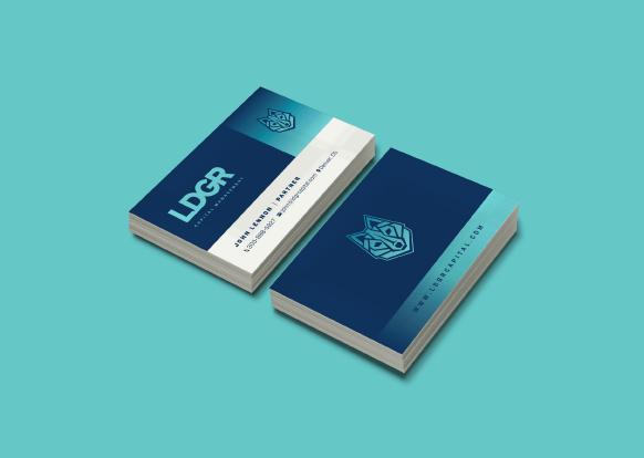 LDGR Capital Management business card designed by Ozzmata