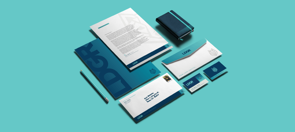 LDGR Capital Management branding designed by Ozzmata