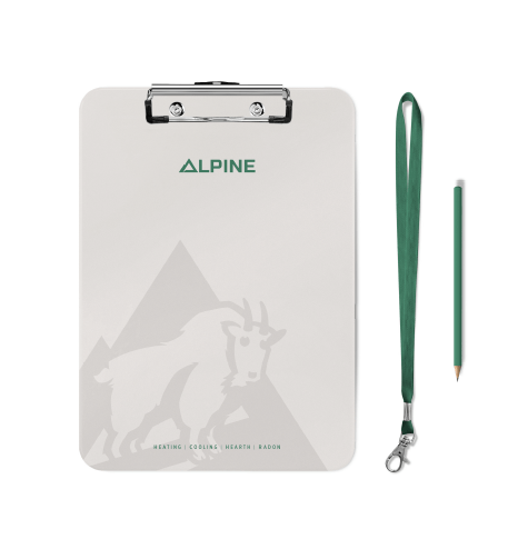 Image of Alpine Climate control Ozzmata branding, brand identity and collateral design