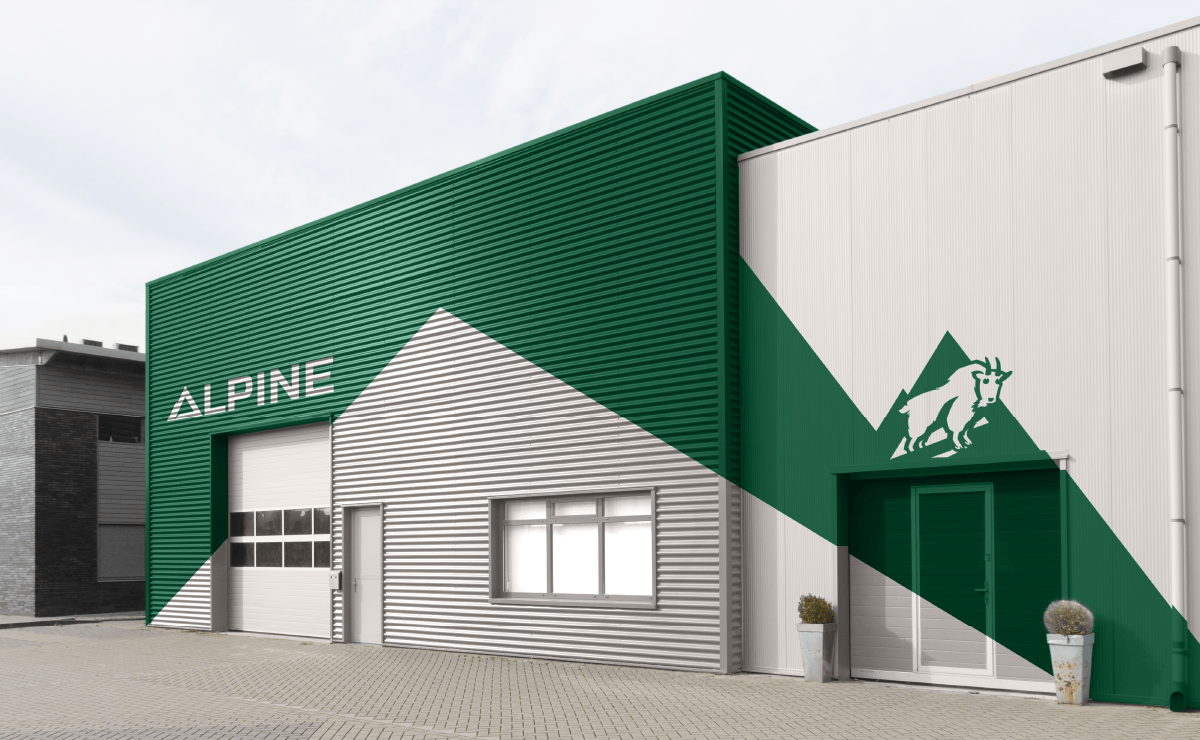 Image of Alpine Climate control Ozzmata branding, brand identity and building design