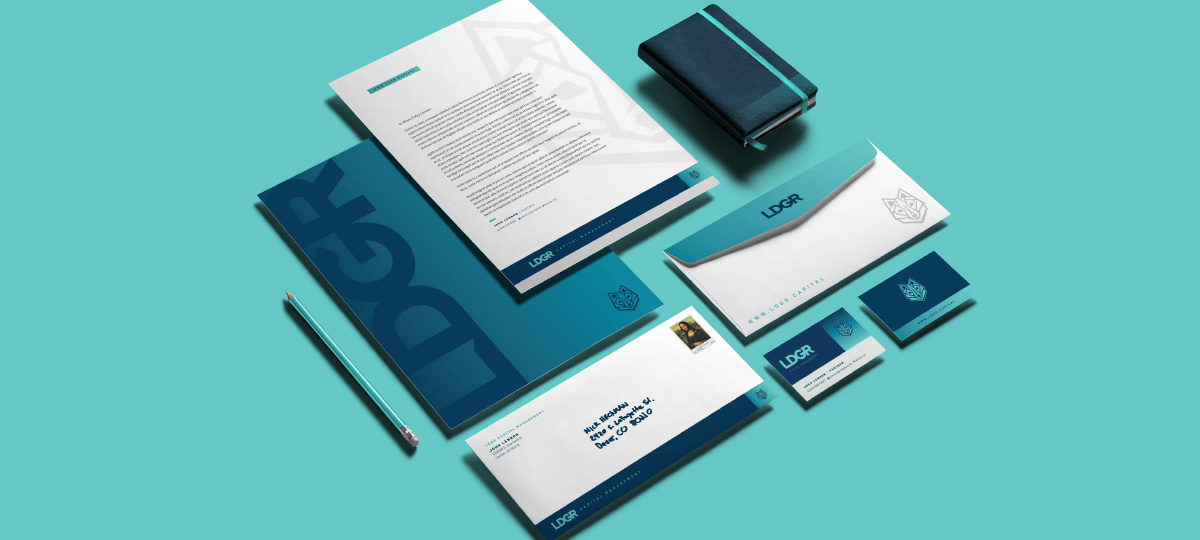 LDGR Capital Management branding designed by Ozzmata