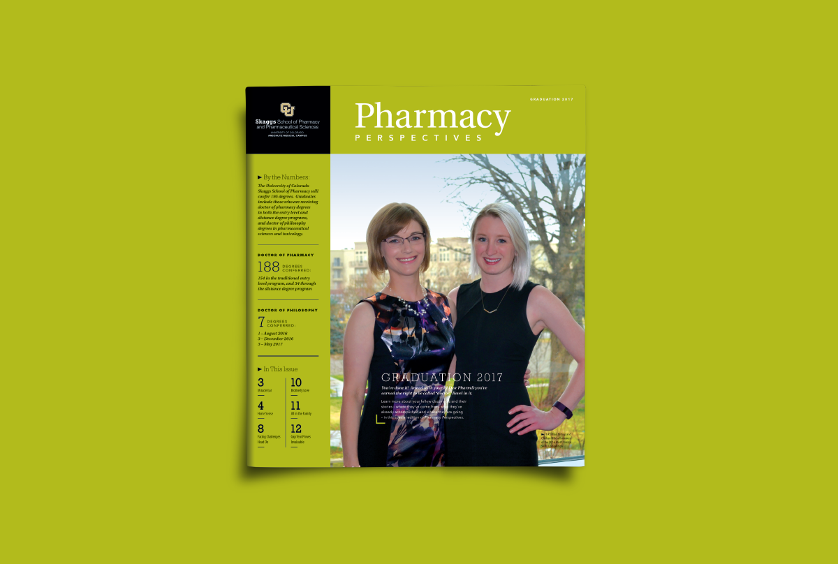 CU Skaggs School of Pharmacy, Ozzmata Pharmacy Perspectives Publication Designs
