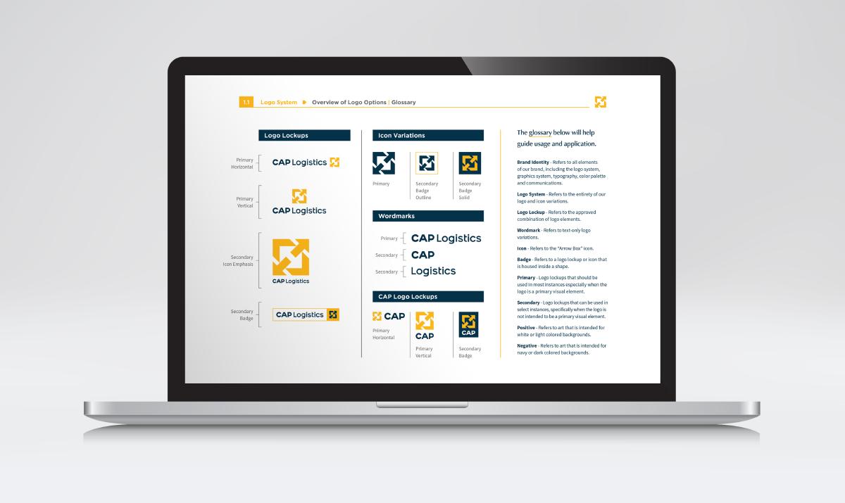 CAP Logistics Brand Guidelines, Ozzmata Creative