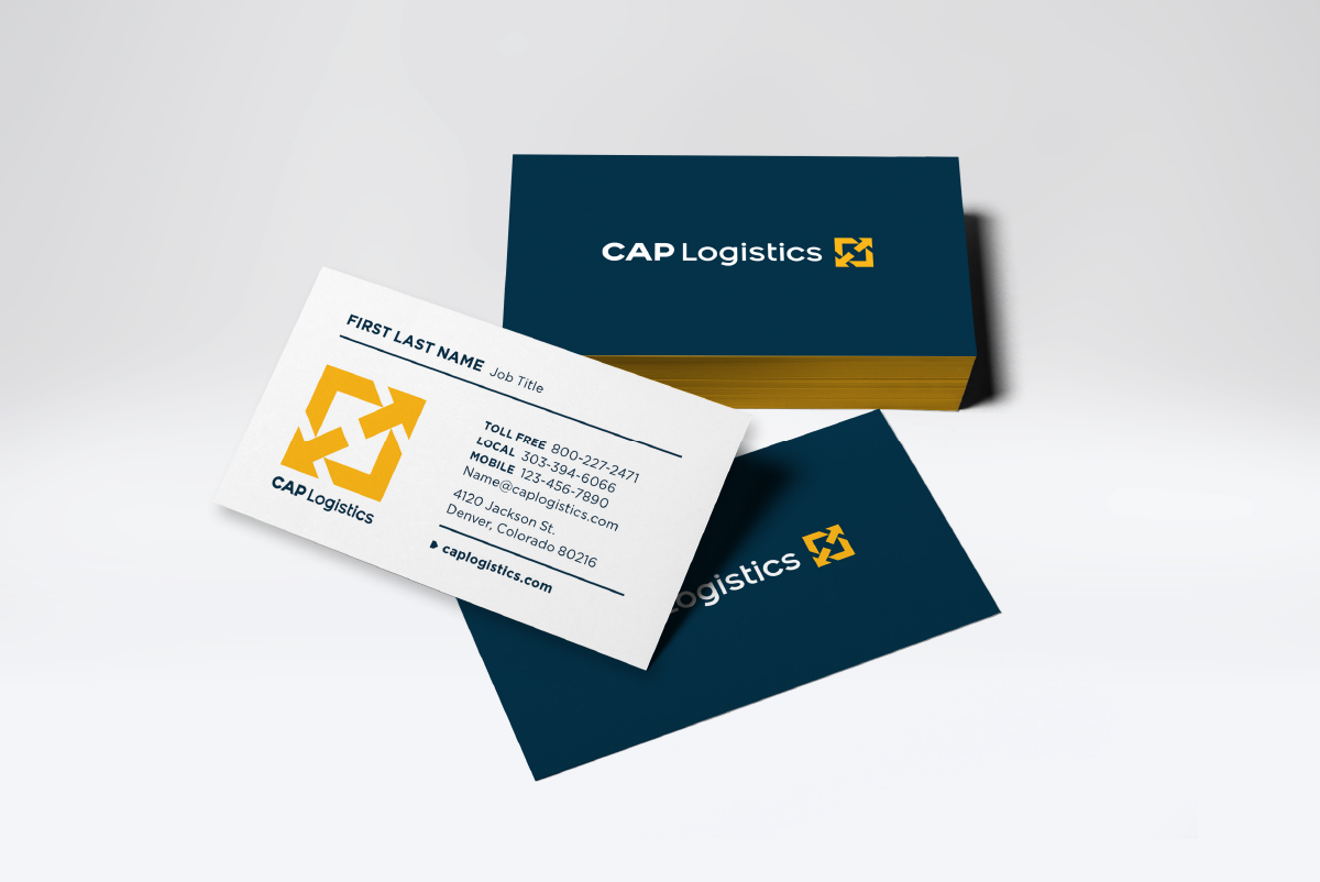 CAP Logistics Business Card, Ozzmata Creative