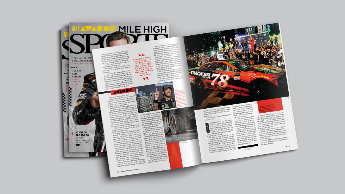 Mile High Sports Magazine | Martin Truex Jr. | Design by Ozzmata.com