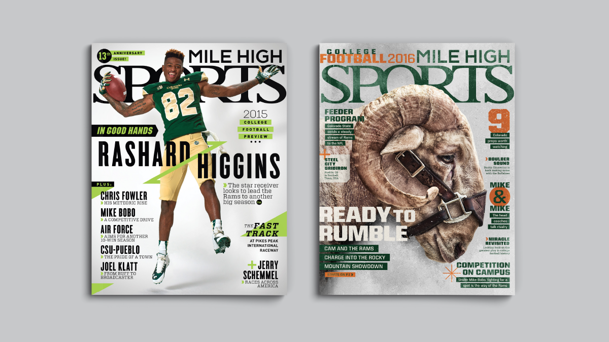 Mile High Sports Magazine | CSU | Design by Ozzmata.com