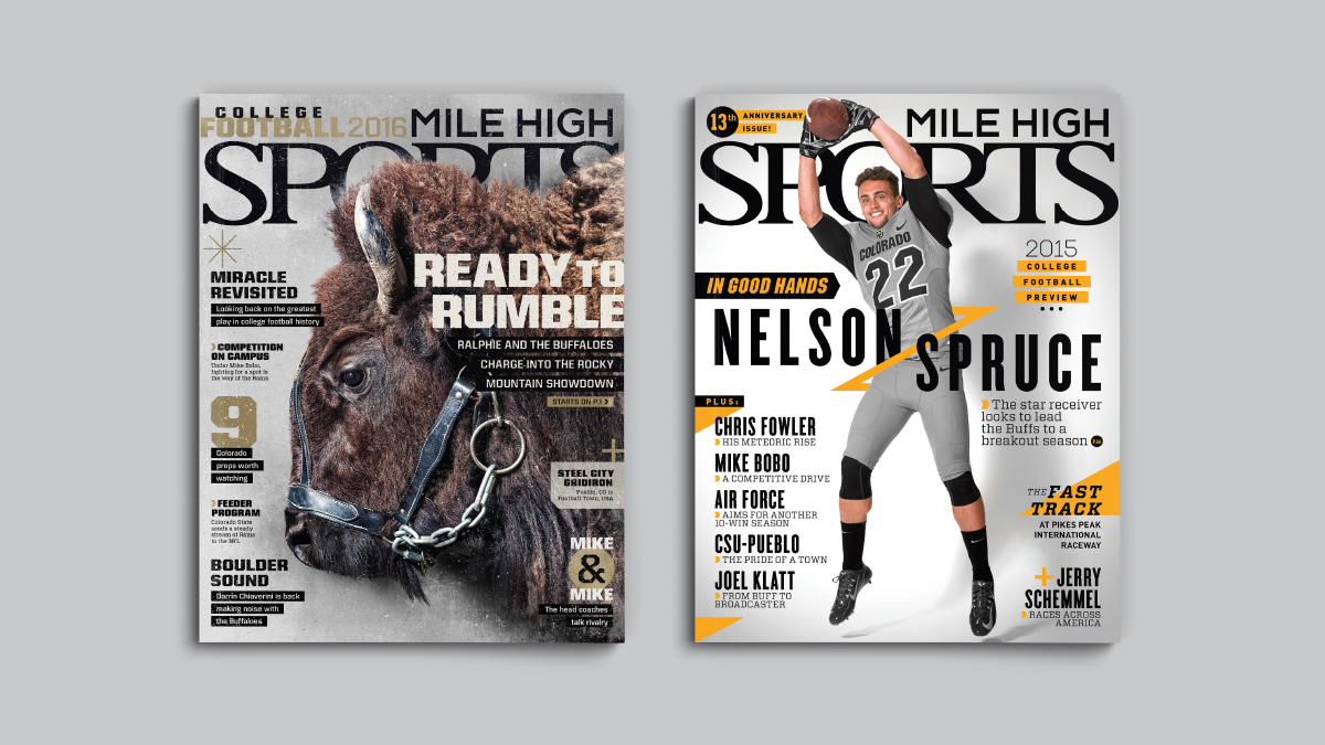 Mile High Sports Magazine | CU | Design by Ozzmata.com