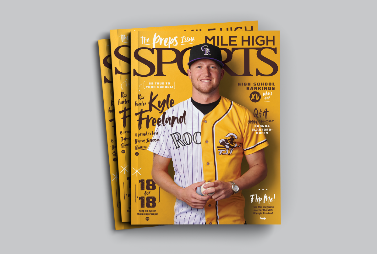 Mile High Sports Magazine | Kyle Freeland | Design by Ozzmata.com
