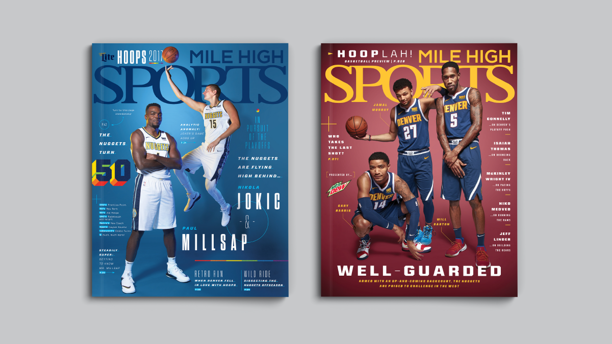 Mile High Sports Magazine | Denver Nuggets | Design by Ozzmata.com