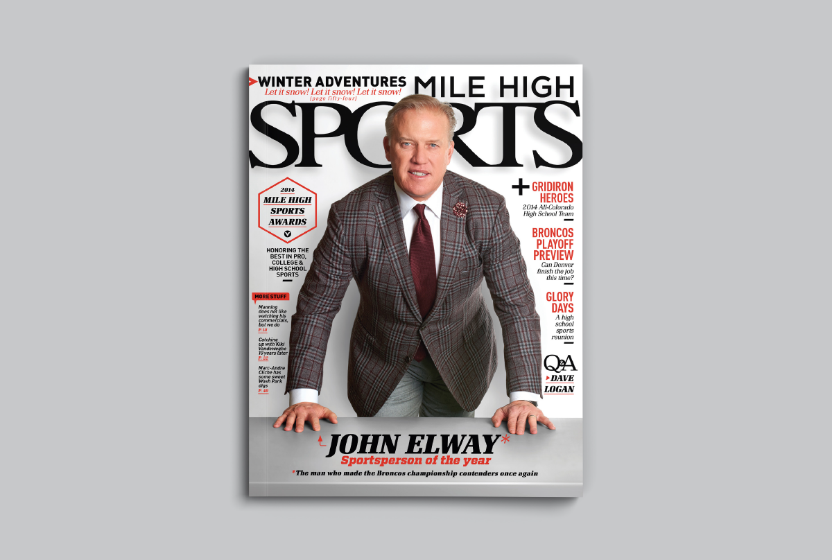 Mile High Sports Magazine | John Elway | Design by Ozzmata.com