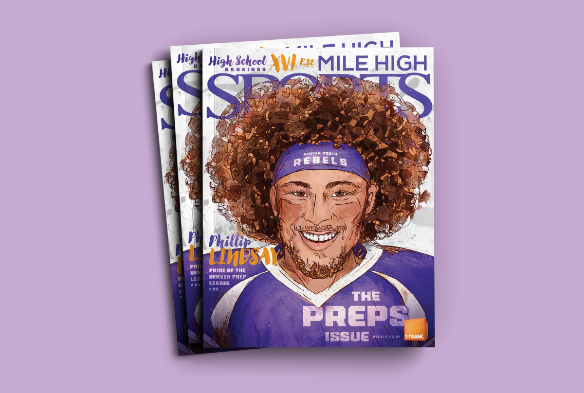 Mile High Sports Magazine | Phillip Lindsay | Design by Ozzmata.com