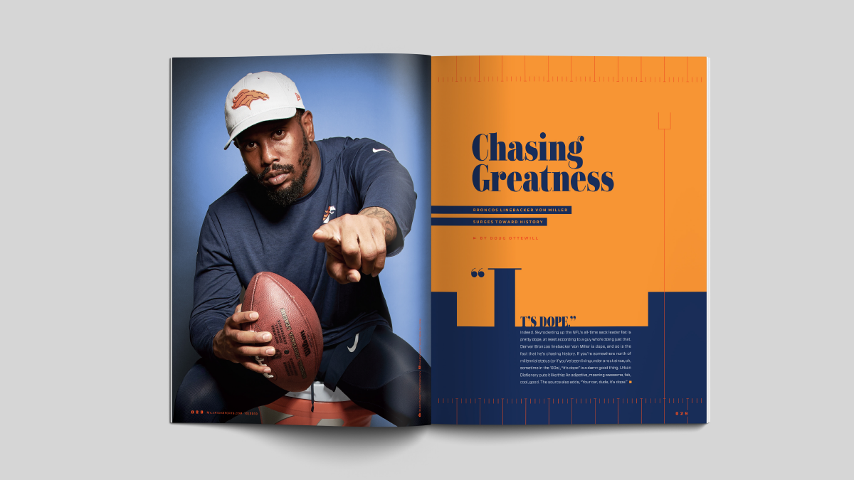 Mile High Sports Magazine | Von Miller | Design by Ozzmata.com