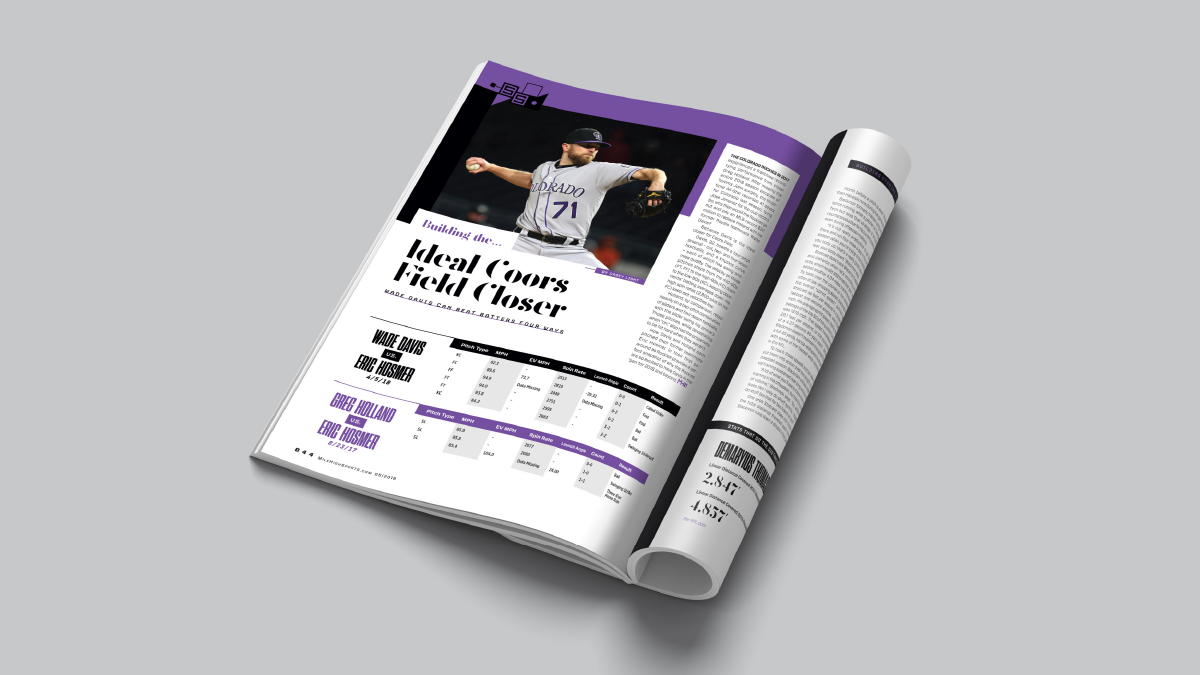 Mile High Sports Magazine | Charlie Blackmon | Design by Ozzmata.com
