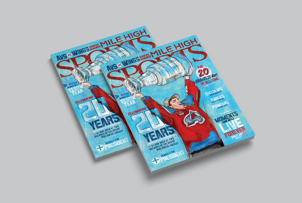 Mile High Sports Magazine | Joe Sakic | Design by Ozzmata.com