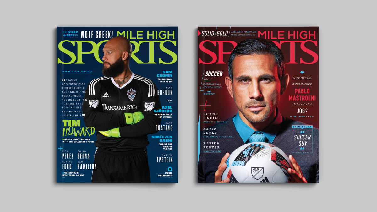 Mile High Sports Magazine | Colorado Rapids | Design by Ozzmata.com