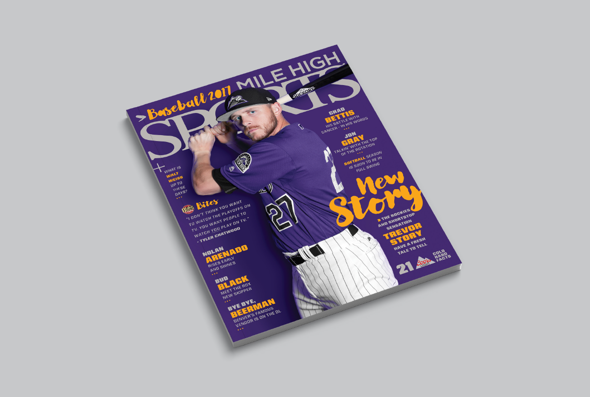 Mile High Sports Magazine | Trevor Story | Design by Ozzmata.com