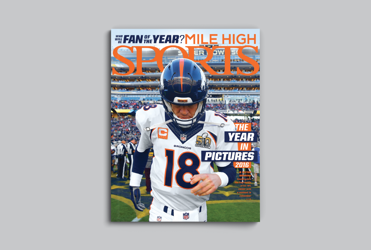 Mile High Sports Magazine | Peyton Manning | Design by Ozzmata.com