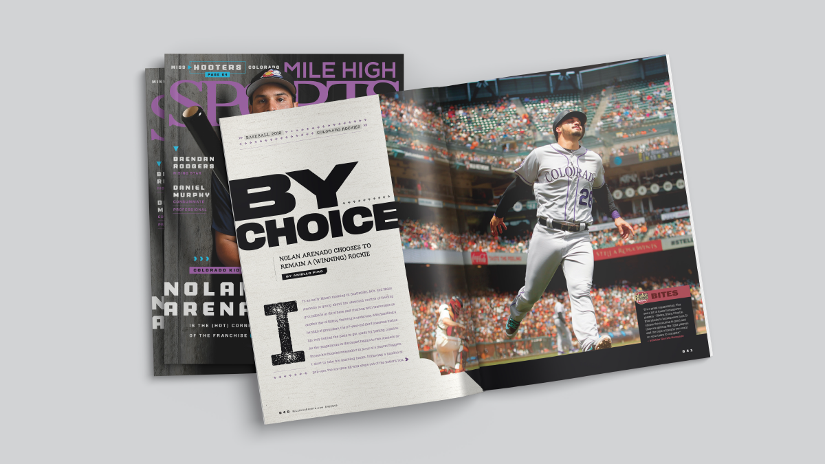 Mile High Sports Magazine | Nolan Arenado | Design by Ozzmata.com