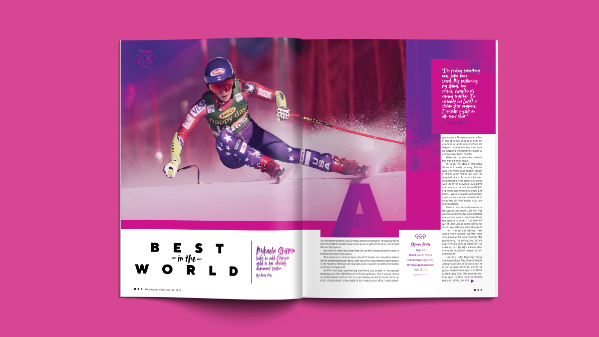 Mile High Sports Magazine | Olympics | Design by Ozzmata.com