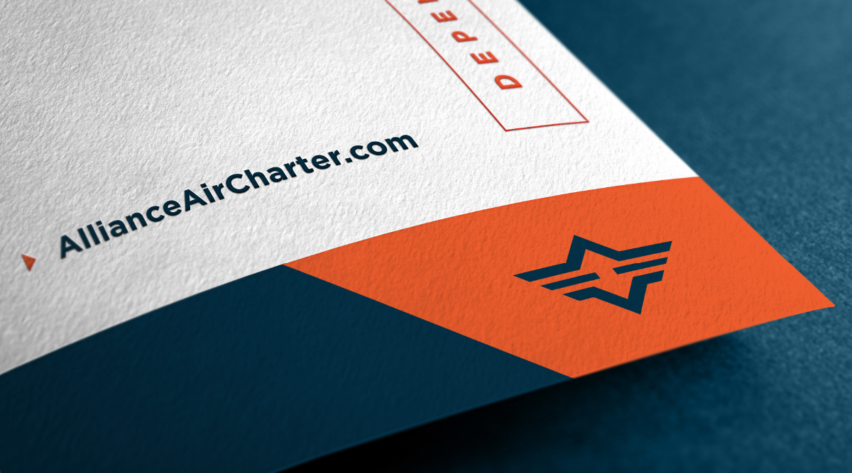 Alliance Air Charter | Collateral | Design by Ozzmata.com