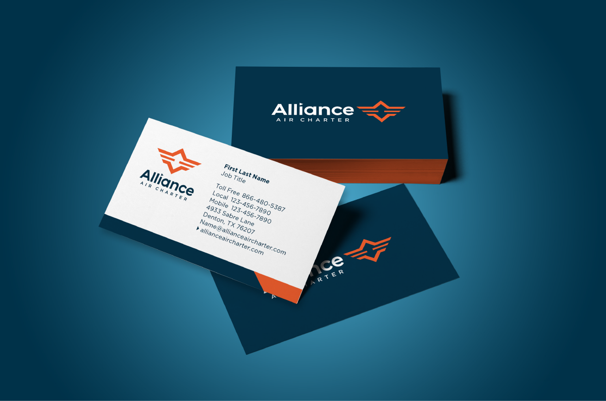 Alliance Air Charter | Business Card | Design by Ozzmata.com