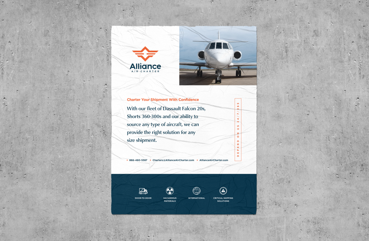 Alliance Air Charter | Poster | Design by Ozzmata.com