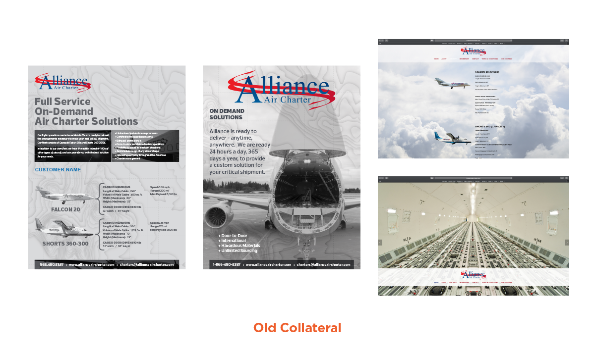 Alliance Air Charter | Old Branding